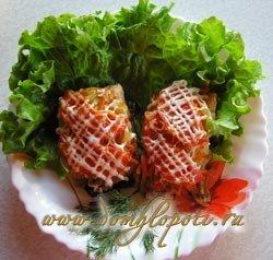 Рыба (горбуша, кета) зепеченная в духовке с овощами